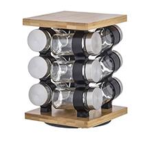 Romano 12pc Spice Jar Set with Rack