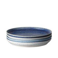 Denby Studio Blue Coupe Dinner Plate 26cm Set of 4