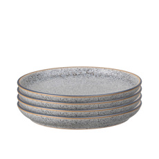 Denby Studio Grey Medium Coupe Plate 21cm Set of 4