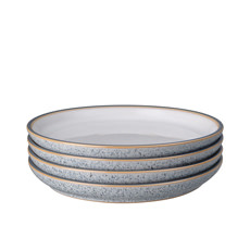 Denby Studio Grey Medium Coupe Plate 21cm Set of 4 White