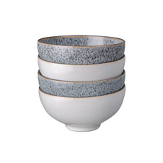 Denby Studio Grey <b>Rice Bowl</b> 13cm Set of 4 White