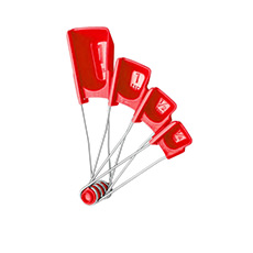 Dreamfarm Levoons Scraper Leveling <b>Measuring</b> Spoon Red