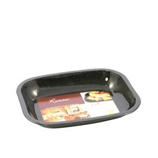 Enamel Mini Roaster 26x21x3.5cm Black