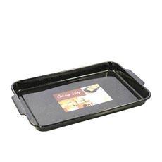 Enamel Rectangle Dish 41x28x3.5cm Black