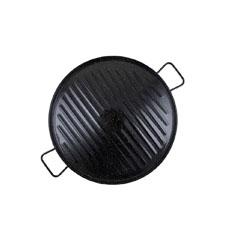 Enamelled Carbon Steel Griddle 46cm Black