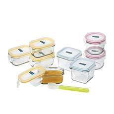 Glasslock Baby Food <b>Container</b> 9pc Set w/ Spoon