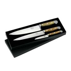 Alpha Olive Gift Boxed 3 pc Knife Set
