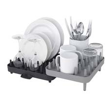 Joseph Joseph Connect Adjustable <b>Dish Rack</b> 3pc Set Grey