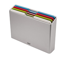 Joseph Joseph Folio 4pc <b>Chopping Board</b> Set Large Silver