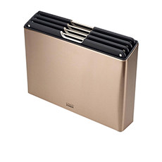 Joseph Joseph Folio Steel 4pc <b>Chopping Board</b> Set Rose Gold