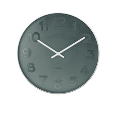 Mr Blue Numbers Wall Clock Small