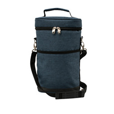 Premium 2 Bottle Wine Carrier Blue