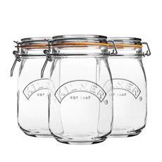 Clip Jar Round Set of 3 1L