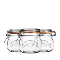 Clip Jar Round Set of 3 500ml