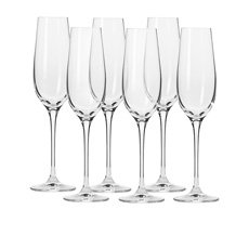 Krosno Harmony <b>Champagne Flute</b> 180ml Set of 6