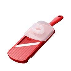 Adjustable Mandolin Slicer w/ Handguard Red