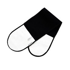 Double Oven Glove Satin Black