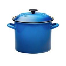 Enamel Stockpot 22cm - 7.6L Marseille Blue