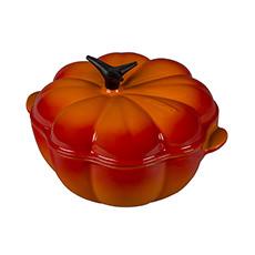 <b>Le Creuset</b> Cast Iron Pumpkin Casserole 22cm - 2L Volcanic