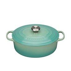 Le Creuset Signature <b>Cast Iron</b> Oval Casserole 29cm - 4.7L Cool Mint