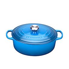 Le Creuset Signature <b>Cast Iron</b> Oval Casserole 29cm - 4.7L Marseille Blue