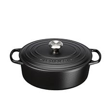Le Creuset Signature <b>Cast Iron</b> Oval Casserole 29cm - 4.7L Satin Black