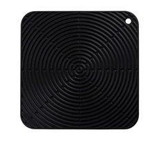 Le Creuset Silicone Cool Tool Square Mat 29cm Satin <b>Black</b>