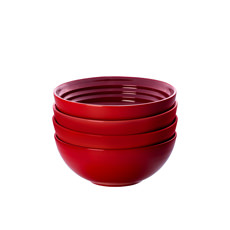 Le Creuset Stoneware Cereal <b>Bowl</b> 16cm Set of 4 Cerise