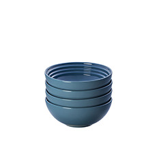 Le Creuset Stoneware Cereal <b>Bowl</b> 16cm Set of 4 Marine