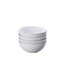Le Creuset Stoneware Cereal <b>Bowl</b> 16cm Set of 4 White