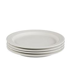 Le Creuset Stoneware <b>Dinner</b> Plate 27cm Set of 4 White