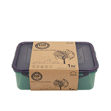 Lock & Lock Eco Rectangular Short <b>Container</b> 1L