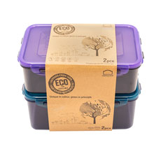 Lock & Lock Eco Rectangular <b>Container</b> Set 2pc