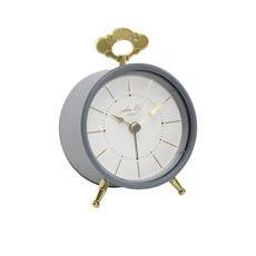 Tilly Silent Alarm Clock Charcoal