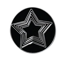 Loyal Plain 5 Point Star <b>Cookie Cutters</b> Set of 6