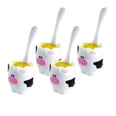 Moo Moo Egg Cup & Spoon Set of 4