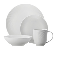 <b>Maxwell</b> & <b>Williams</b> Swirl Dinner Set 16pc White