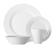<b>Maxwell</b> & <b>Williams</b> White Basics Cosmopolitan 16pc Rim Dinner Set