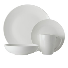 <b>Maxwell</b> & <b>Williams</b> White Basics Fitzrovia Coupe Dinner Set 16pc