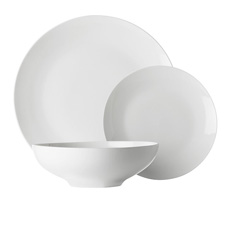<b>Maxwell</b> & <b>Williams</b> White Basics Tribeca 12pc Coupe <b>Dinner</b> Set