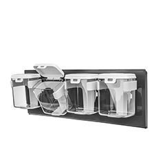 Series Wall Mounted Organiser 1 Row of 4 250ml