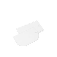 Icing Comb & Bowl Scraper 2pc