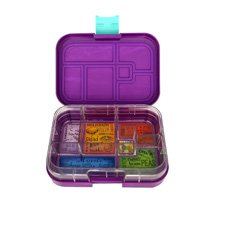 Munchbox Maxi 6 Bento <b>Box</b> Purple Peacock