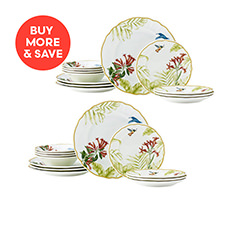 cdc29f5c20c5 Noritake Hummingbird Meadow 12pc Dinner Set (2 Sets)