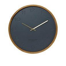 Freya Silent Wall Clock 35cm Charcoal