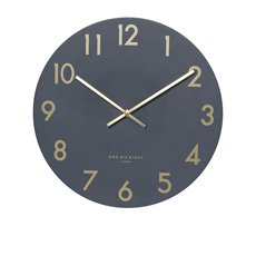 One Six Eight London Jones Silent Wall Clock 40cm Charcoal Grey