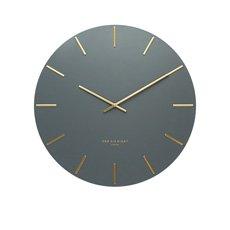 Luca Silent Wall Clock 30cm Charcoal