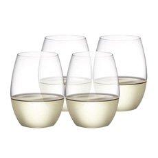 Plumm Stemless WHITE+ Wine Glass 398ml Set of 4