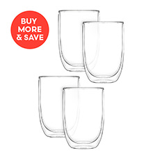 2pc Double Wall Glass Set 400ml (2 Sets)