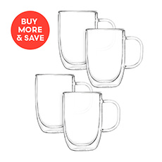 2pc Double Wall Mug Set 350ml (2 Sets)
